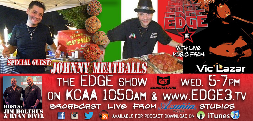 Edge radio Johnny Meatballs graphic